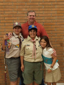 Dani Got Wood Badge!